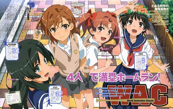Tags: Anime, To Aru Majutsu no Index, To Aru Kagaku no Railgun, Saten Ruiko, Uiharu Kazari, Shirai Kuroko, Misaka Mikoto, Scan, Official Art, A Certain Scientific Railgun