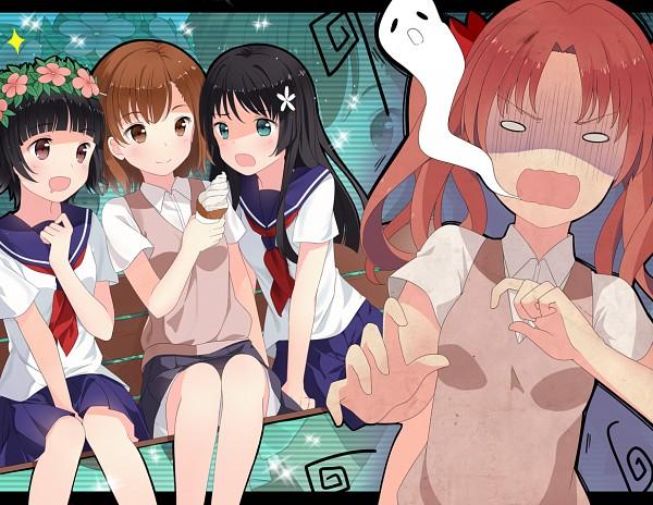 Tags: Anime, Hitsukuya, To Aru Kagaku no Railgun, To Aru Majutsu no Index, Shirai Kuroko, Misaka Mikoto, Saten Ruiko, Uiharu Kazari, Soul Out Of Body, A Certain Scientific Railgun