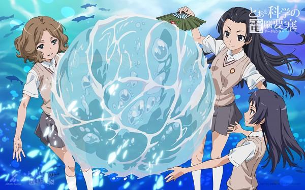 Tags: Anime, To Aru Kagaku no Railgun, To Aru Majutsu no Index, Awatsuki Maaya, Kongou Mitsuko, Wannai Kinuho, Official Art, Wallpaper, A Certain Scientific Railgun