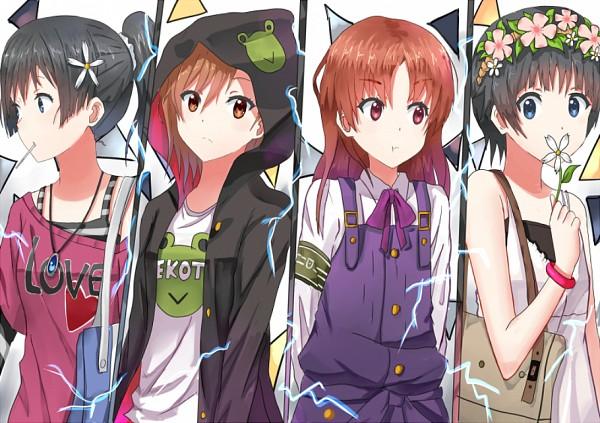 Tags: Anime, Pixiv Id 9290363, To Aru Majutsu no Index, To Aru Kagaku no Railgun, Shirai Kuroko, Misaka Mikoto, Saten Ruiko, Uiharu Kazari, Gekota, Fanart From Pixiv, Pixiv, Fanart, A Certain Scientific Railgun