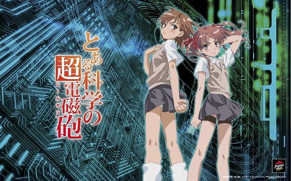 Tags: Anime, To Aru Kagaku no Railgun, To Aru Majutsu no Index, Misaka Mikoto, Shirai Kuroko, 1680x1050 Wallpaper, Wallpaper, Official Art, A Certain Scientific Railgun