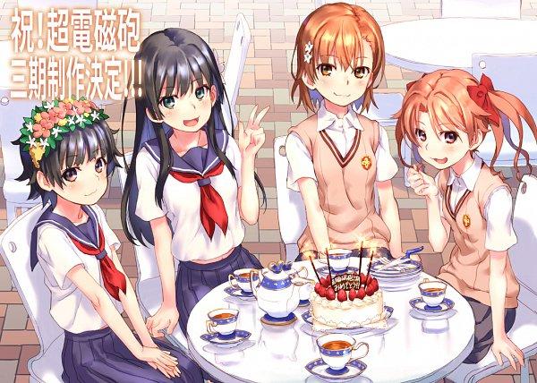 Tags: Anime, Pixiv Id 2232374, To Aru Kagaku no Railgun, To Aru Majutsu no Index, Uiharu Kazari, Shirai Kuroko, Misaka Mikoto, Saten Ruiko, A Certain Scientific Railgun