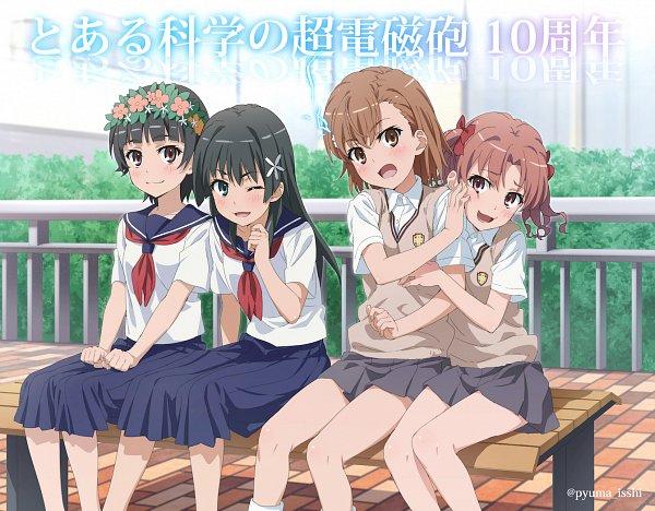 Tags: Anime, Isshi Pyuuma, To Aru Majutsu no Index, To Aru Kagaku no Railgun, Saten Ruiko, Uiharu Kazari, Shirai Kuroko, Misaka Mikoto, A Certain Scientific Railgun