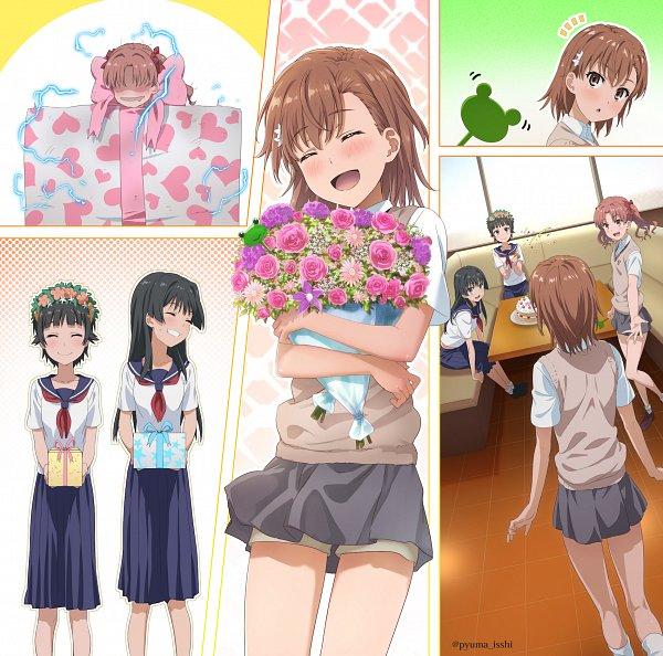 Tags: Anime, Isshi Pyuuma, To Aru Kagaku no Railgun, To Aru Majutsu no Index, Uiharu Kazari, Shirai Kuroko, Misaka Mikoto, Saten Ruiko, A Certain Scientific Railgun