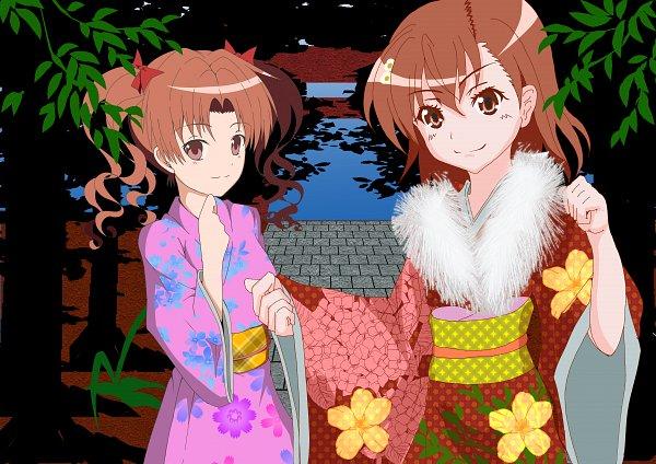 Tags: Anime, Pixiv Id 6827626, To Aru Kagaku no Railgun, To Aru Majutsu no Index, Shirai Kuroko, Misaka Mikoto, A Certain Scientific Railgun