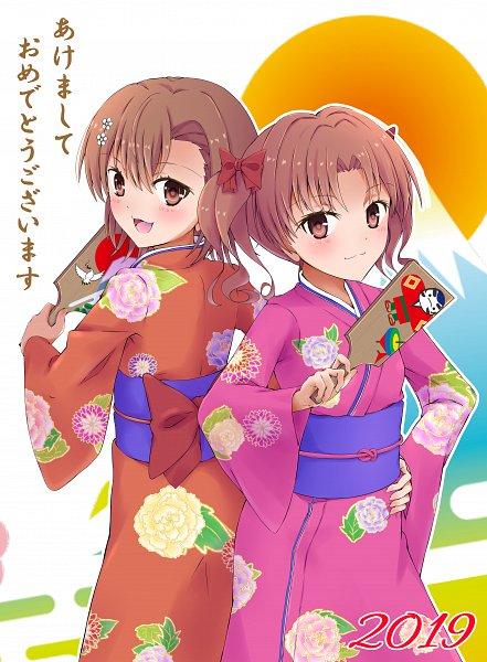 Tags: Anime, Pixiv Id 6827626, To Aru Majutsu no Index, To Aru Kagaku no Railgun, Misaka Mikoto, Shirai Kuroko, A Certain Scientific Railgun