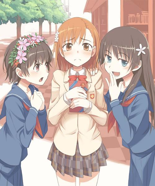Tags: Anime, Chihaya 72, To Aru Kagaku no Railgun, To Aru Majutsu no Index, Uiharu Kazari, Misaka Mikoto, Saten Ruiko, A Certain Scientific Railgun