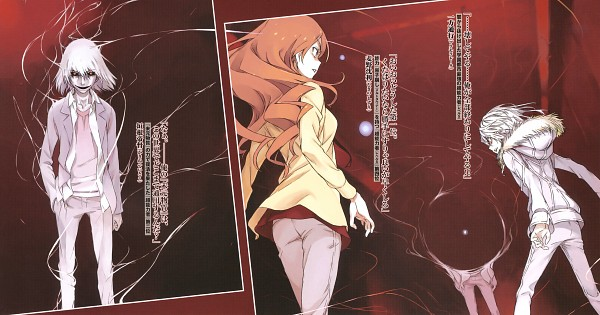 Tags: Anime, Haimura Kiyotaka, To Aru Majutsu no Index, Kakine Teitoku, Accelerator, Mugino Shizuri, Official Art, Facebook Cover, Novel Illustration, Wallpaper, A Certain Magical Index