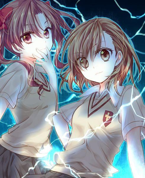 Tags: Anime, Riichu, To Aru Majutsu no Index, Shirai Kuroko, Misaka Mikoto, Pixiv, PNG Conversion, A Certain Magical Index