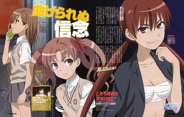 Tags: Anime, Tamura Kazuhiko, J.C.STAFF, To Aru Majutsu no Index, Shirai Kuroko, Musujime Awaki, Misaka Mikoto, Magazine (Source), Newtype Magazine (Source), Scan, Official Art, A Certain Magical Index