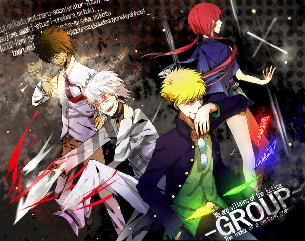 Tags: Anime, Pixiv Id 2260978, To Aru Majutsu no Index, Musujime Awaki, Tsuchimikado Motoharu, Accelerator, A Certain Magical Index