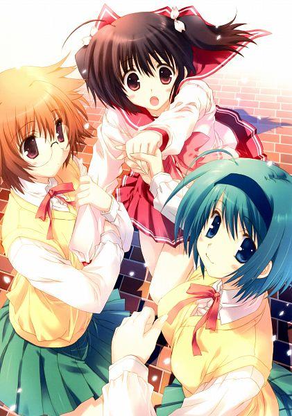 Tags: Anime, Mitsumi Misato, Mitsumi Misato Art Works, To Heart 2, Yuzuhara Konomi, Yamada Michiru, Chie Yoshioka, Official Art, Scan