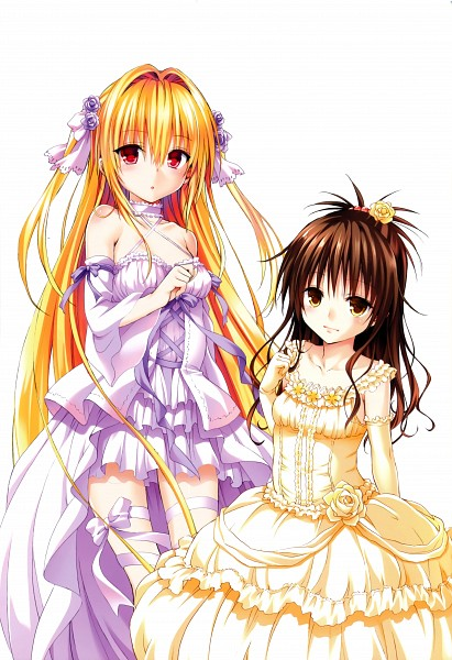 Tags: Anime, Yabuki Kentarou, To LOVE-Ru, Venus (Artbook), Konjiki no Yami, Yuuki Mikan, Official Art, Mobile Wallpaper, Scan