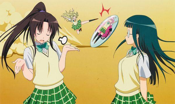 Tags: Anime, To LOVE-Ru, Lala Satalin Deviluke, Tenjouin Saki, Kujou Rin, Fujisaki Aya, Official Art, Scan, Wallpaper