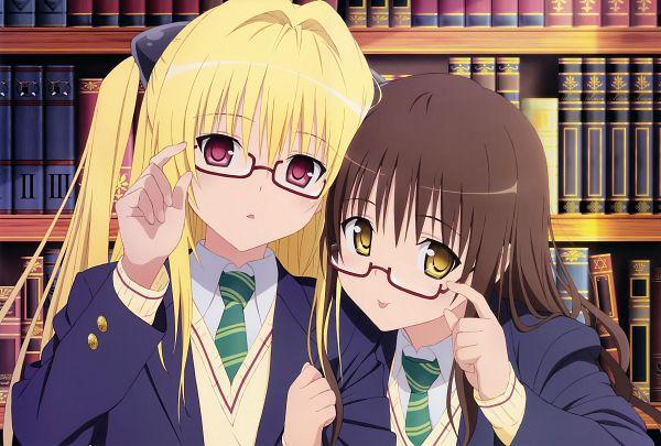 Tags: Anime, Oka Yuuichi, To LOVE-Ru, Love Honey, Yuuki Mikan, Konjiki no Yami, Scan, Official Art