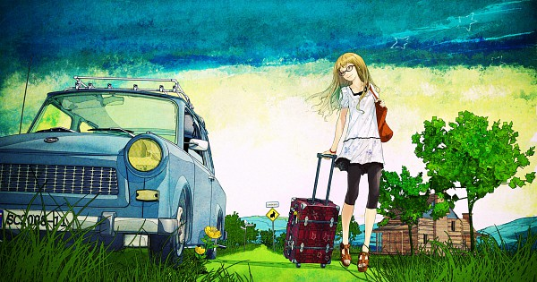 Tags: Anime, redjuice, Supercell, Suitcase, Wallpaper, Traditional Media, CD (Source), Watercolor, Pixiv, deviantART, Original, Facebook Cover, Scan