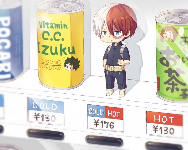 Tags: Anime, 0328uppi, Boku no Hero Academia, Midoriya Izuku, Uraraka Ochako, Todoroki Shouto, Can, Canned Drink, Pixiv, Fanart, Fanart From Pixiv