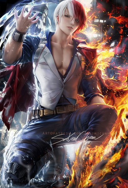 Tags: Anime, Sakimichan, Boku no Hero Academia, Todoroki Shouto, Fanart, Tumblr, Fanart From Tumblr, deviantART