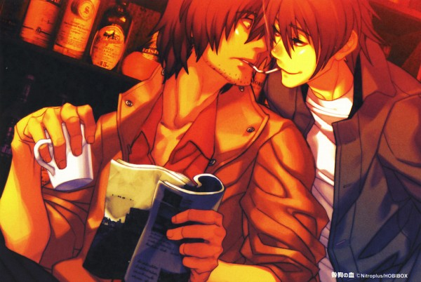 Tags: Anime, Nitro+CHiRAL, Togainu no Chi, Motomi (TNC), Akira (TNC), Official Art, Scan, Blood Of The Reprimanded Dog