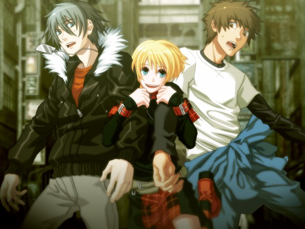 Tags: Anime, Nitro+CHiRAL, Togainu no Chi, Keisuke (TNC), Rin (TNC), Akira (TNC), CG Art, Blood Of The Reprimanded Dog