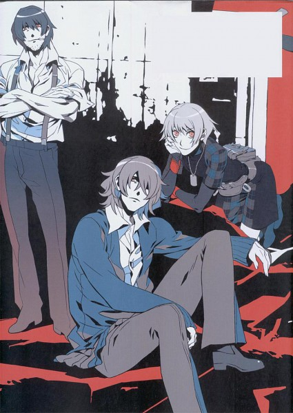 Tags: Anime, Nitro+CHiRAL, Togainu no Chi, Nano (TNC), Motomi (TNC), Rin (TNC), Official Art, Scan, Mobile Wallpaper, Blood Of The Reprimanded Dog