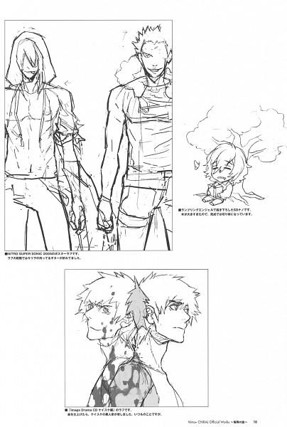 Tags: Anime, Nitro+CHiRAL, Togainu no Chi, Nano (TNC), Kiriwar (TNC), Keisuke (TNC), Gunji, Scan, Mobile Wallpaper, Blood Of The Reprimanded Dog