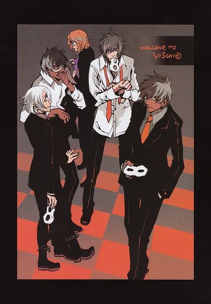 Tags: Anime, Nitro+CHiRAL, Chayamachi Chiral Works, Togainu no Chi, Akira (TNC), Nano (TNC), Keisuke (TNC), Motomi (TNC), Rin (TNC), Domino Mask, Mobile Wallpaper, Scan, Blood Of The Reprimanded Dog