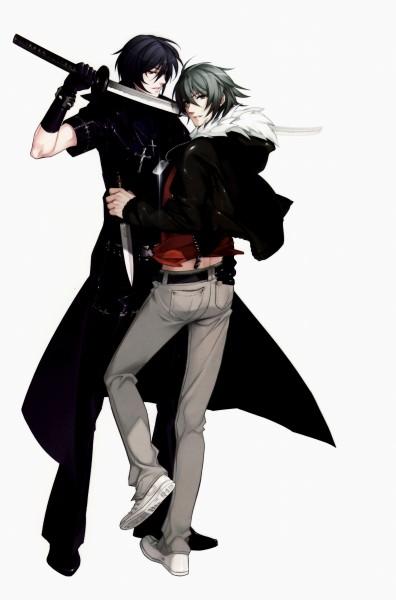 Tags: Anime, Kurahana Chinatsu, Nitro+CHiRAL, Togainu no Chi, Shiki (TNC), Akira (TNC), Mobile Wallpaper, Blood Of The Reprimanded Dog
