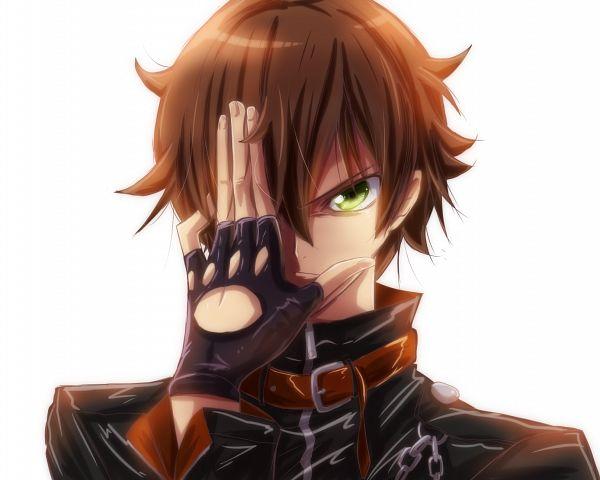 Tags: Anime, Pixiv Id 1847216, Chuunibyo Demo Koi ga Shitai!, Togashi Yuuta, Code Geass (Parody), Covering Face, Pixiv, Fanart