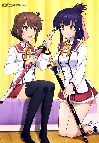 Tags: Anime, Studio Gokumi, Toji no Miko, Yanase Mai (Toji no Miko), Etou Kanami, Official Art, Scan