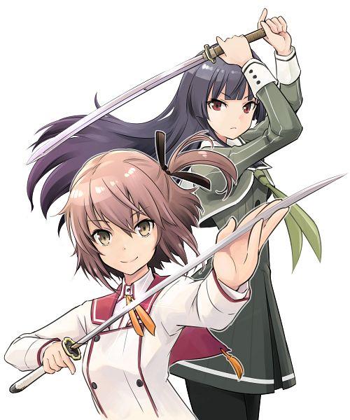 Tags: Anime, Saitou Sakae, Toji no Miko, Juujou Hiyori, Etou Kanami, Official Art