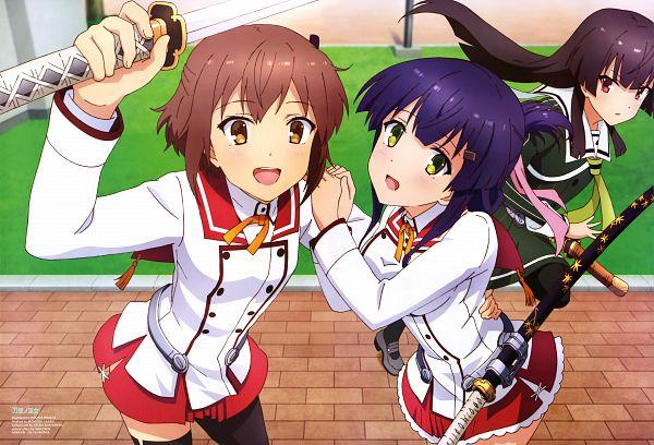 Tags: Anime, Studio Gokumi, Toji no Miko, Yanase Mai (Toji no Miko), Juujou Hiyori, Etou Kanami, Official Art, Scan
