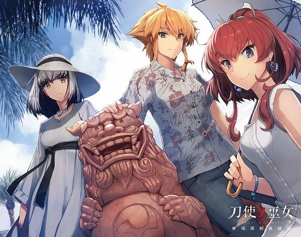 Tags: Anime, Toji no Miko, Satsuki Yomi, Konohana Suzuka, Shidou Maki (Toji no Miko), Official Art