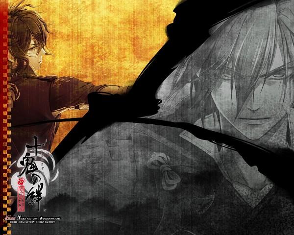Tags: Anime, miko (Artist), IDEA FACTORY, Toki no Kizuna, Kazuya (Toki no Kizuna), Chitose (Toki no Kizuna), Wallpaper, Bond Of Ten Demons