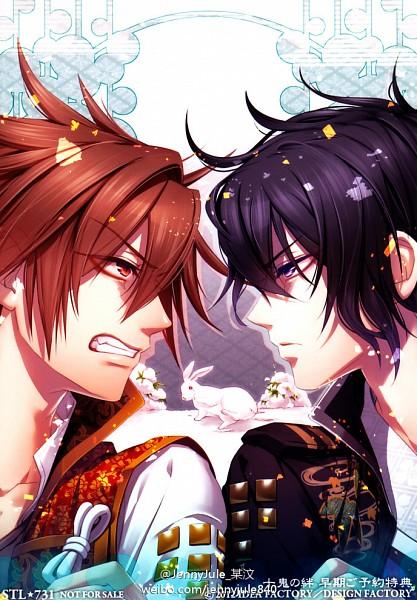Tags: Anime, IDEA FACTORY, Toki no Kizuna, Chitose (Toki no Kizuna), Kazuya (Toki no Kizuna), Mobile Wallpaper, Bond Of Ten Demons