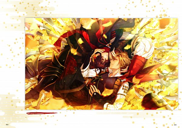 Tags: Anime, miko (Artist), IDEA FACTORY, Toki no Kizuna Official Fanbook ~Sekigahara Kitan~, Toki no Kizuna, Suzumori Yukina, Chitose (Toki no Kizuna), Official Art, Scan, Bond Of Ten Demons