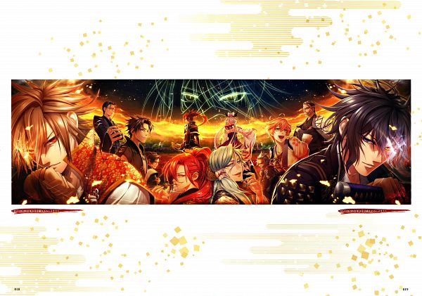 Tags: Anime, miko (Artist), IDEA FACTORY, Toki no Kizuna Official Fanbook ~Sekigahara Kitan~, Toki no Kizuna, Ishida Mitsunari (Toki no Kizuna), Yase Kazuha, Shimazu Toyohisa (Toki no Kizuna), Honda Masanobu (Toki no Kizuna), Shin (Toki no Kizuna), Tokugawa Ieyasu (Toki no Kizuna), Oboro Yachiyo, Kazutake, Bond Of Ten Demons