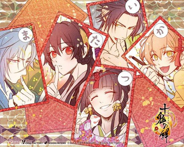Tags: Anime, miko (Artist), IDEA FACTORY, Otomate, Toki no Kizuna, Oboro Yachiyo, Yase Kazuha, Suzumori Yukina, Kazutake, Wallpaper, Official Art, Official Wallpaper, Bond Of Ten Demons
