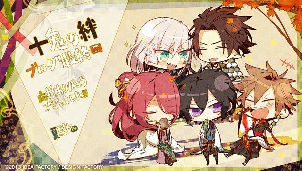 Tags: Anime, Natsume Uta, IDEA FACTORY, Otomate, Toki no Kizuna, Chitose (Toki no Kizuna), Senkimaru, Shin (Toki no Kizuna), Kazutake, Kazuya (Toki no Kizuna), Official Art, Bond Of Ten Demons