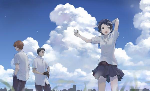 Tags: Anime, Yoshizuki Kumichi, Toki wo Kakeru Shoujo, Tsuda Kousuke, Konno Makoto, Mamiya Chiaki, Wallpaper, The Girl Who Leapt Through Time