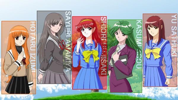 Tags: Anime, Tokimeki Memorial 3, Tokimeki Memorial 2, Tokimeki Memorial ~Only Love~, Tokimeki Memorial 4, Tokimeki Memorial, Amamiya Sayuri, Izumi Hotaru, Asou Kasumi, Fujisaki Shiori, Wallpaper