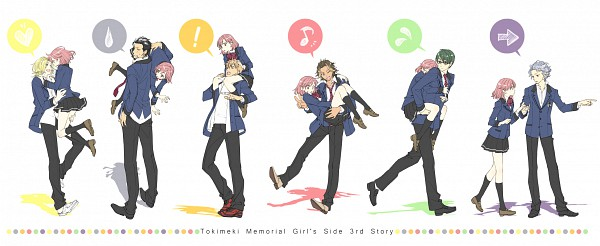 Tags: Anime, Pixiv Id 1453836, Tokimeki Memorial Girl's Side 3rd Story, Sakurai Ruka, Shitara Seiji, Fujiyama Arashi, Niina Jyunbei, Sakurai Koichi, Konno Tamao, Banbi, Facebook Cover, Pixiv, Fanart