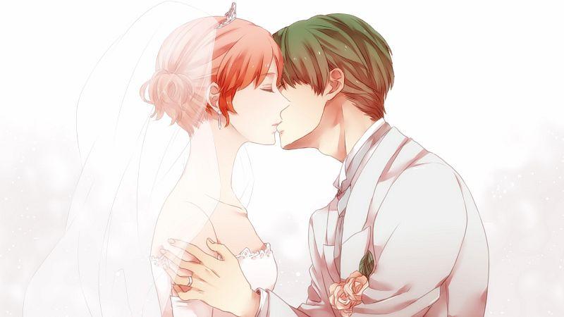 Tags: Anime, Hatchxox, Tokimeki Memorial Girl's Side 3rd Story, Banbi, Konno Tamao, Wedding Ring, Pixiv, Fanart, Facebook Cover