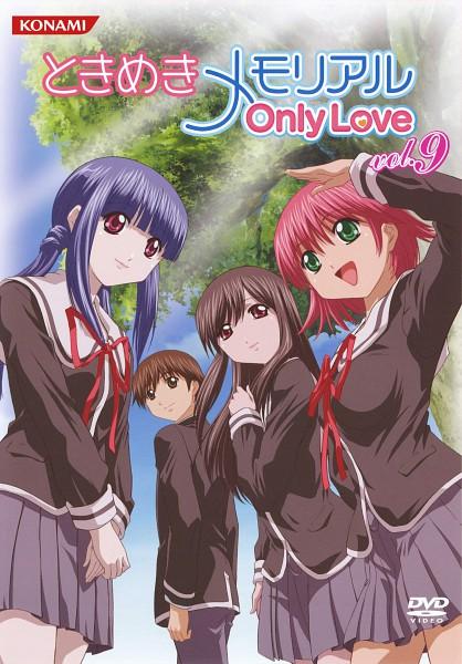 Tags: Anime, Tokimeki Memorial ~Only Love~, Kasuga Tsukasa, Amamiya Sayuri, Aoba Riku, Yayoi Mina, DVD (Source), Official Art, Scan