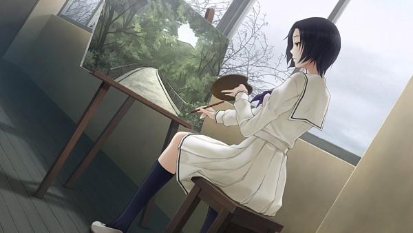 Tags: Anime, Sugina Miki, Innocent Grey, Kara no Shoujo 2, Tokisaka Yukari, Painting (Action), Wallpaper, CG Art
