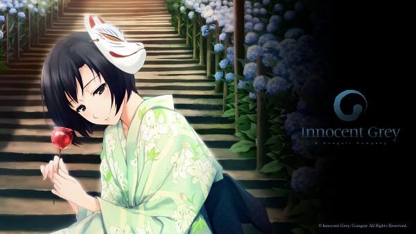 Tags: Anime, Sugina Miki, Innocent Grey, Kara no Shoujo, Tokisaka Yukari, Candy Apple, Wallpaper