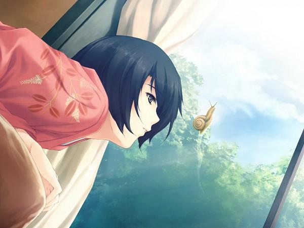 Tags: Anime, Sugina Miki, Innocent Grey, Kara no Shoujo, Tokisaka Yukari, Snail, CG Art