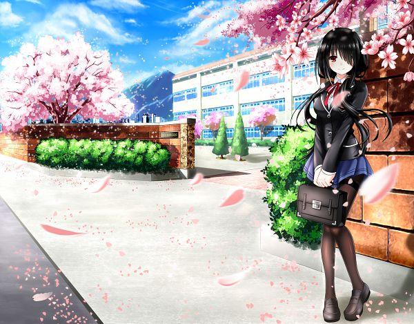 Tags: Anime, Pixiv Id 5058395, Date A Live, Tokisaki Kurumi, School Building