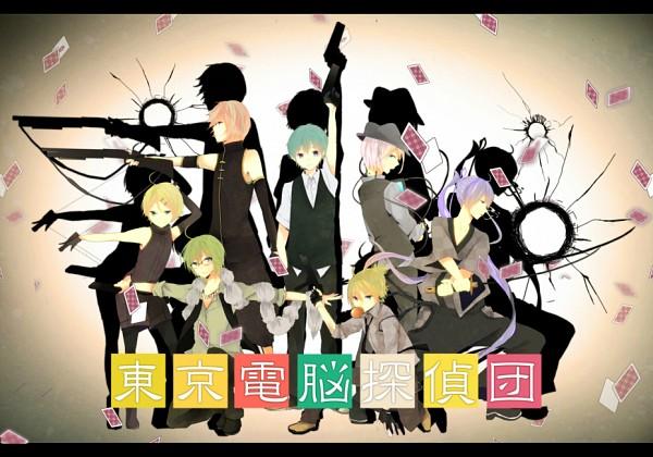 Tags: Anime, Hachi8382, VOCALOID, Kagamine Rinto, Kamui Gakupo, GUMO, Kagamine Len, IO (VOCALOID), Megurine Luki, Hatsune Mikuo, Aiming To Side, Pixiv, Tokyo Dennou Tantei-dan, Tokyo Cyber Detective Brigade