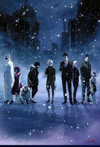 Tags: Anime, Miwa Kazuhiro, Studio Pierrot, Tokyo Ghoul √A, Tokyo Ghoul, Mado Akira, Amon Koutarou, Tatara (Tokyo Ghoul), Kirishima Ayato, Yoshimura Eto, Naki (Tokyo Ghoul), Kaneki Ken, Shinohara Yukinori